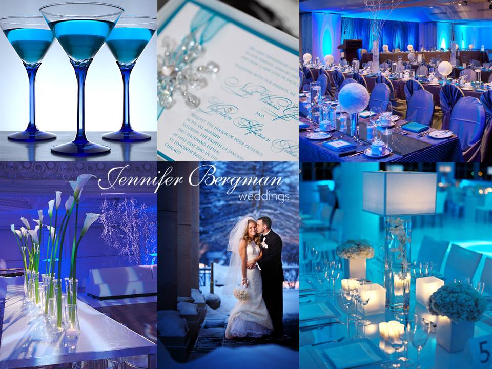icy blue winter wedding inspiration board