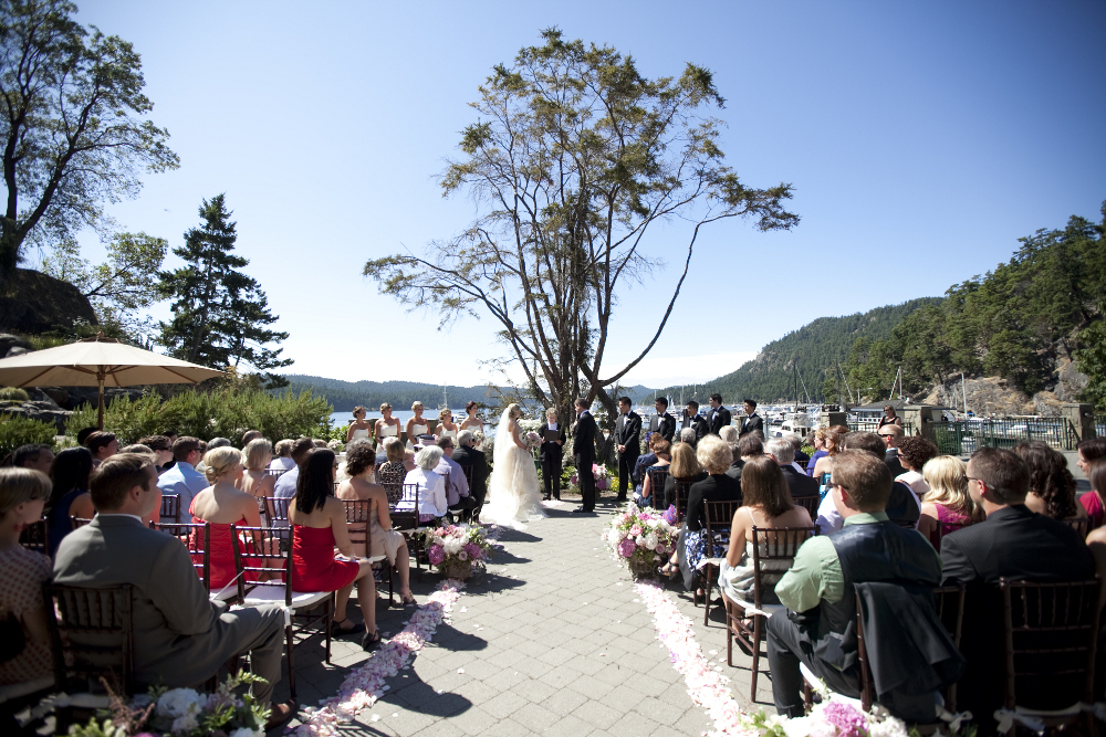 Outdoor Wedding Ceremony Tree Backdrop