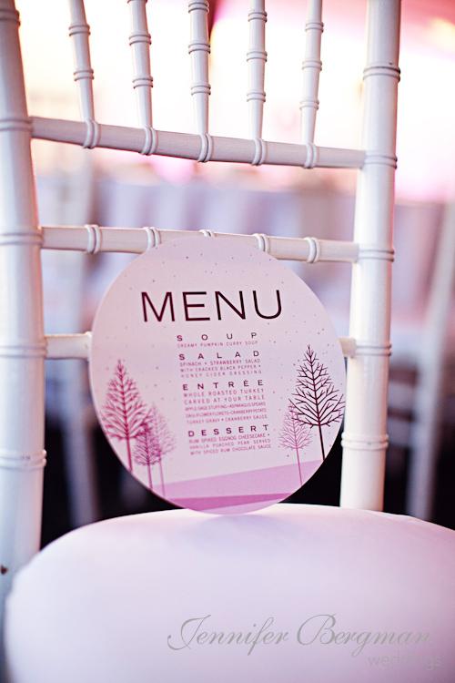 Circle menu cards