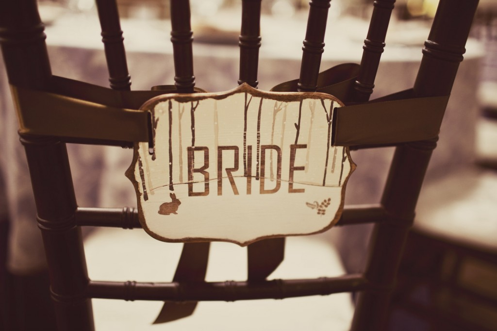 Wooden Chair Signs Wedding