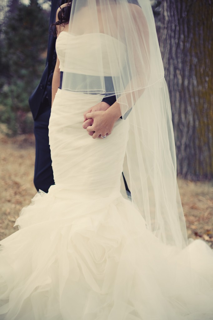 Black Sash Wedding Gown