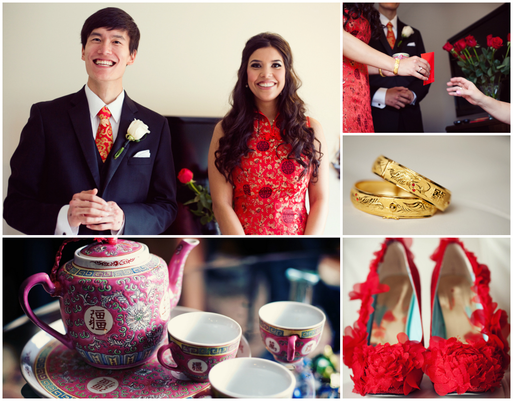 Chinese Tea Ceremony Tea Set, Red Wedding Shoes