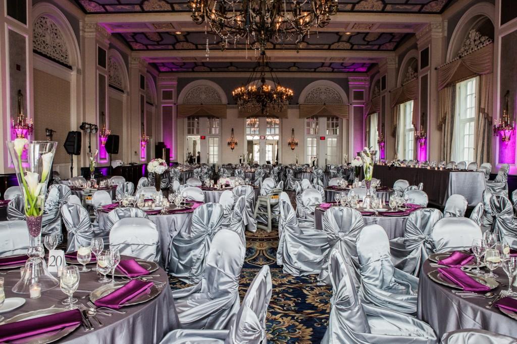 Silver purple pink wedding