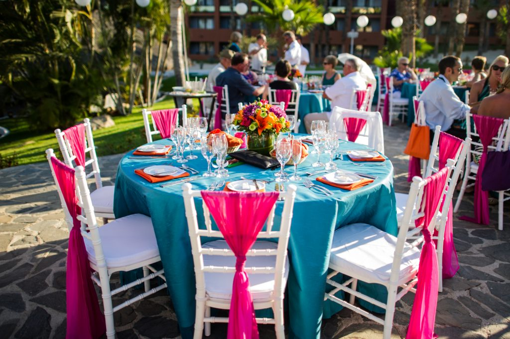Colorful Destination Wedding Tables