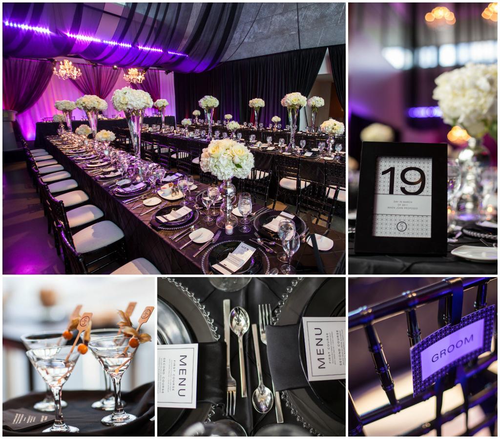 Purple black white wedding Archives - Jennifer Bergman Weddings