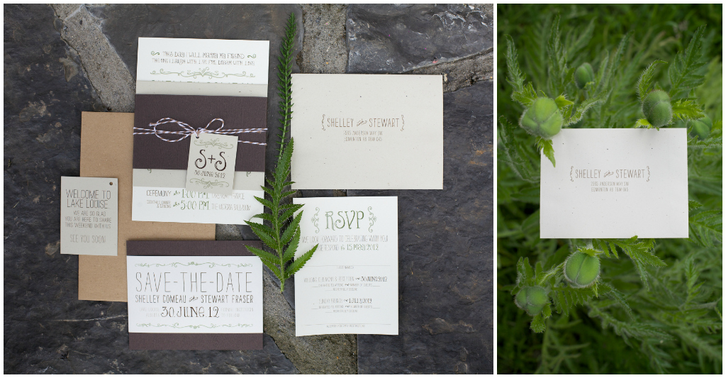 Grey and Brown Wedding Stationary