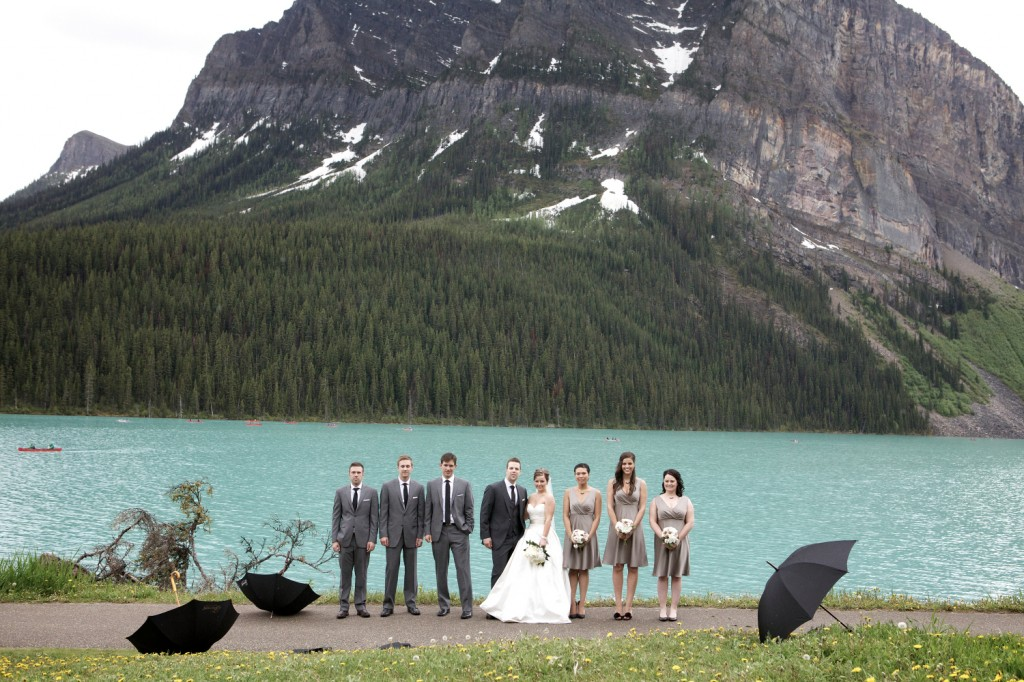 Grey and White Wedding Party