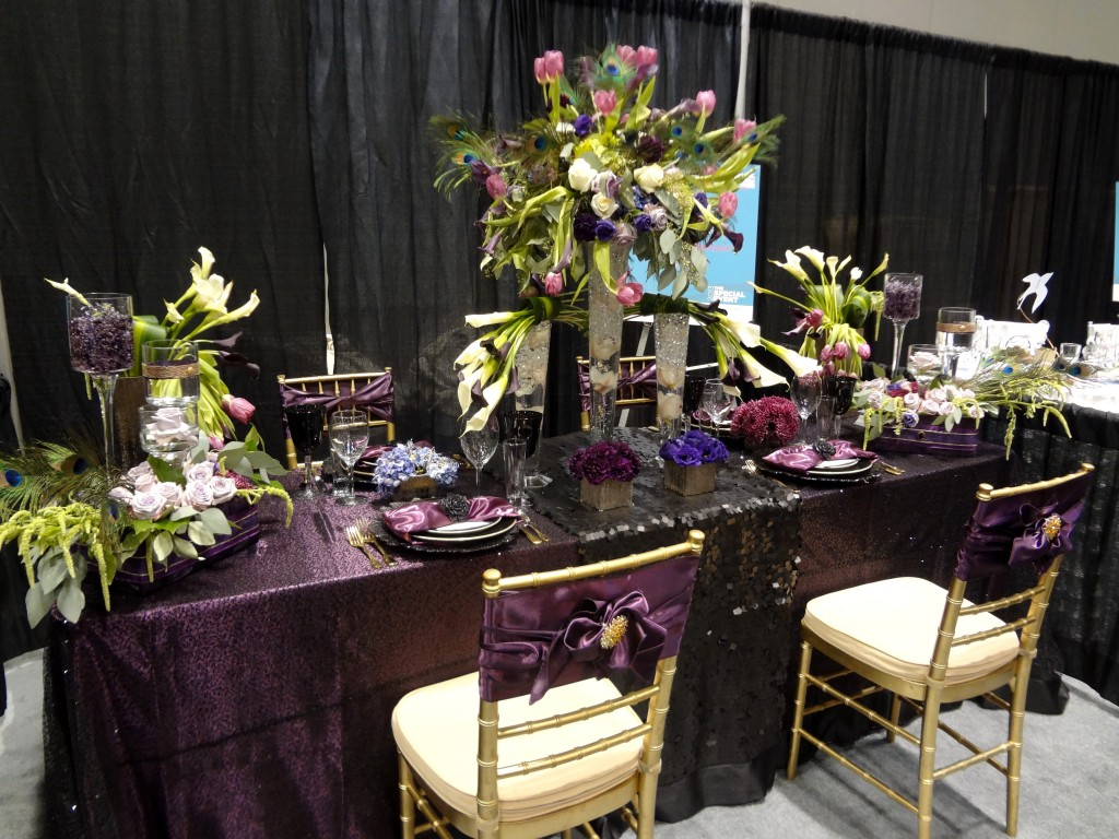 Purple Black Green Wedding