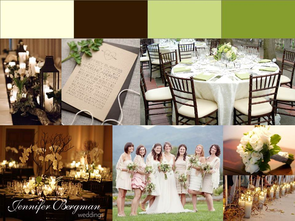 Ivory Brown Green Wedding Inspiration