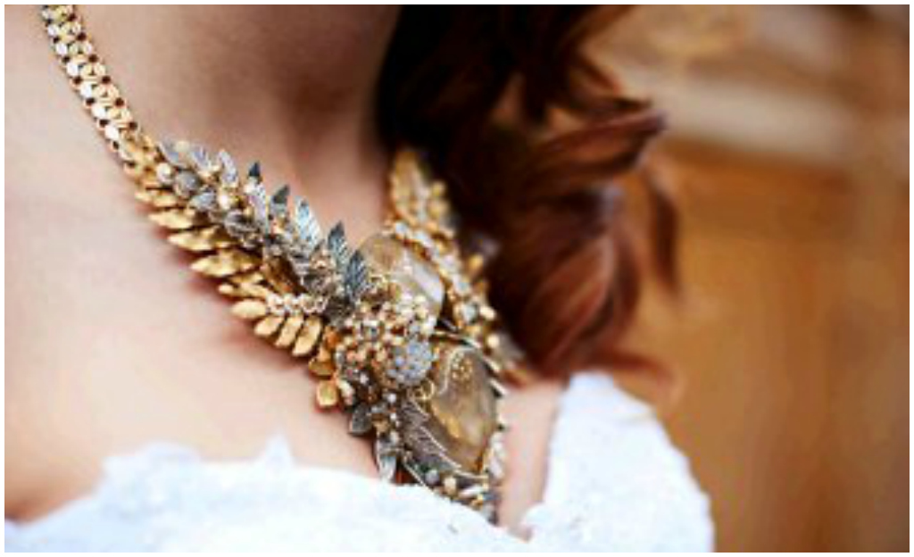 Statement necklace wedding