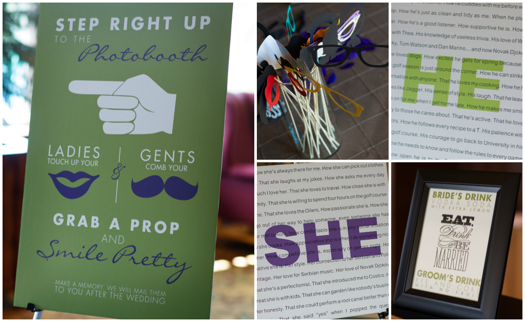 His and Hers Vows, Props for Photobooth