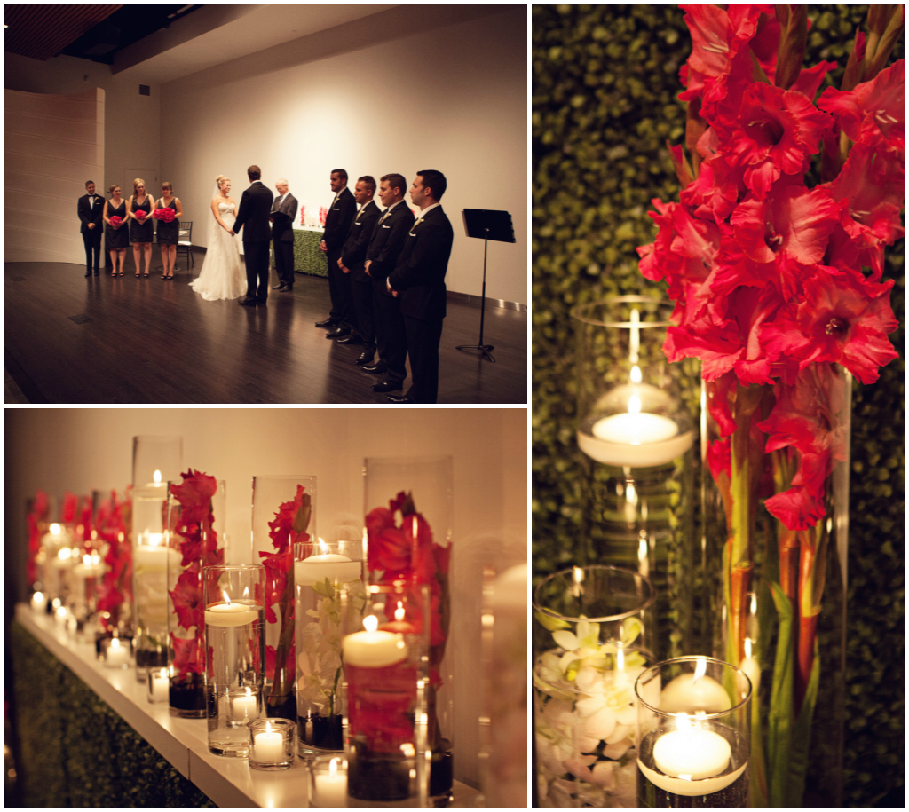 Modern Alter Decorations, Pink Centerpieces, Wild Orchid Edmonton Weddings