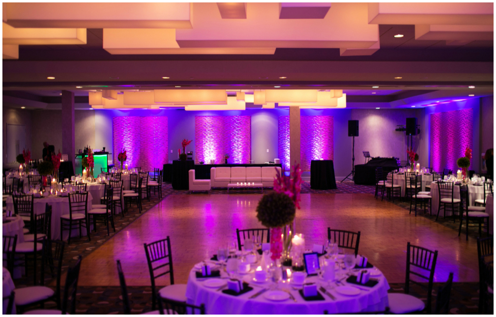 Purple Uplighting Wedding,