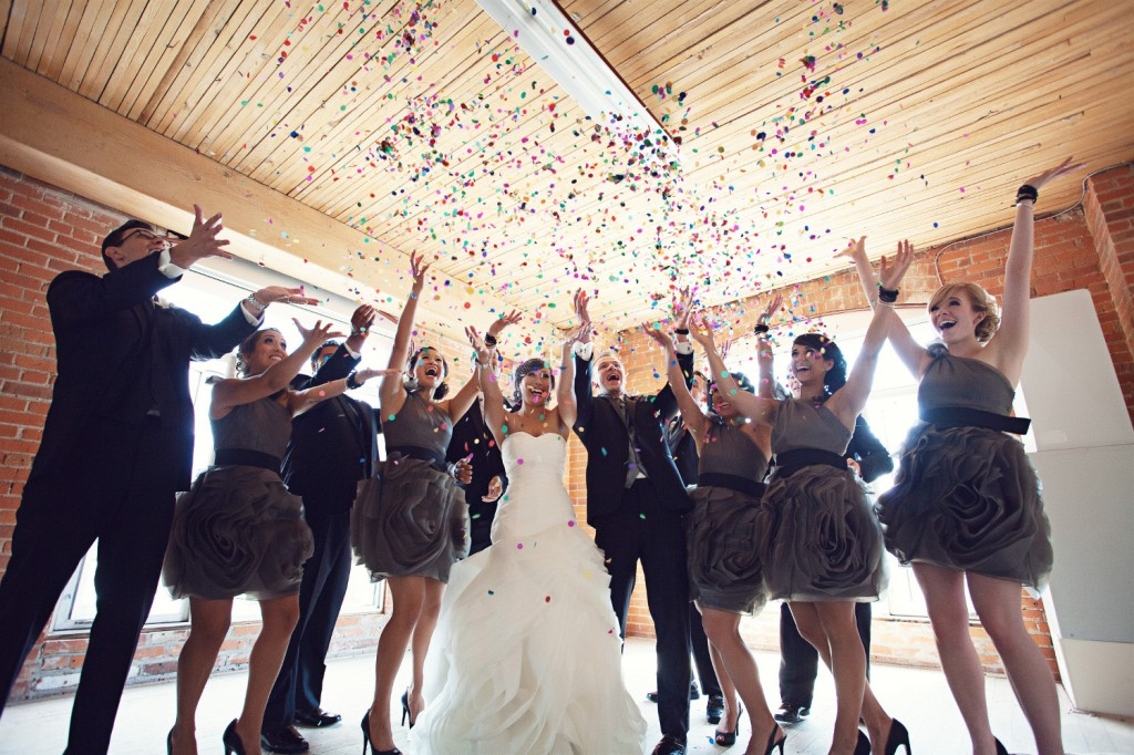 Confetti Bridal Party Photos