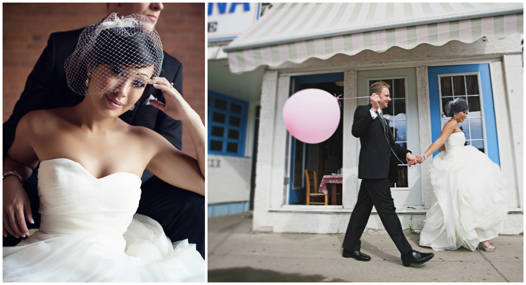 Balloon Wedding Pictures, Cute Wedding Photos with a Balloon