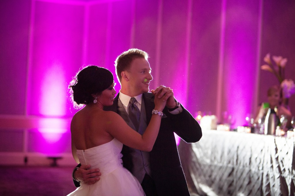 Modern Purple and Pink Uplighting Wedding