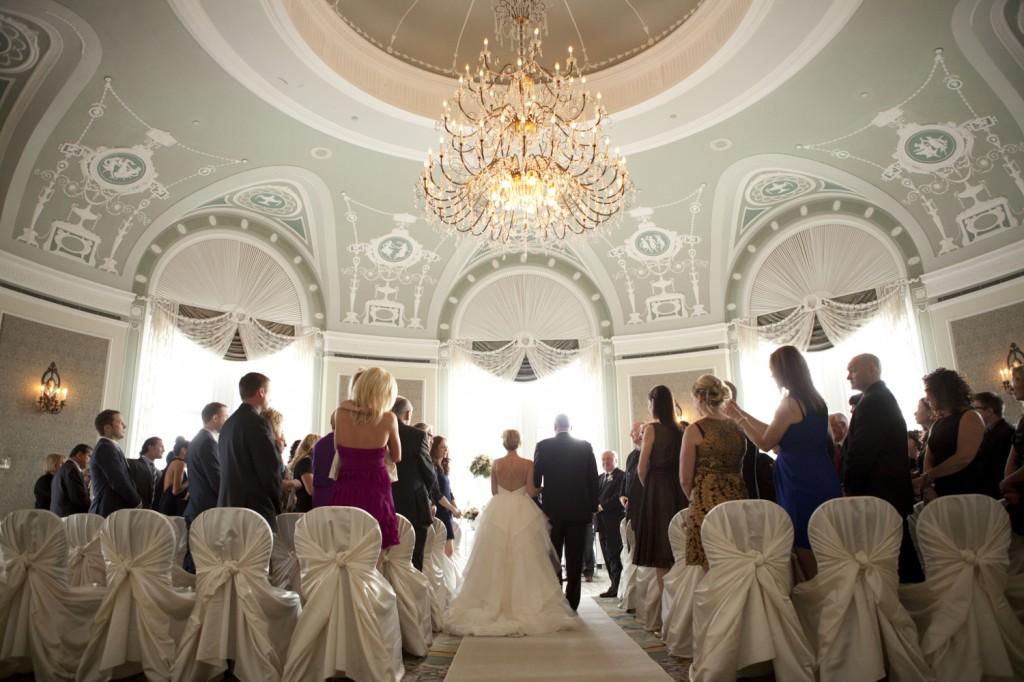 Fairmont Hotel Macdonald Wedding Ceremony