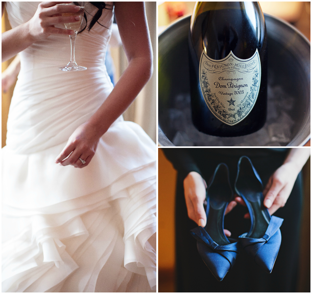 Navy Wedding Shoes, Champagne Wedding Photos