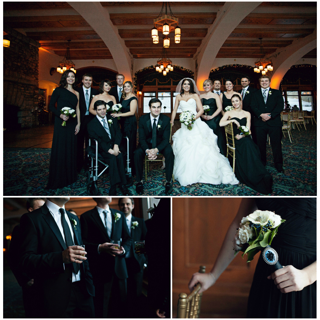 Navy and Black Bridal Party,