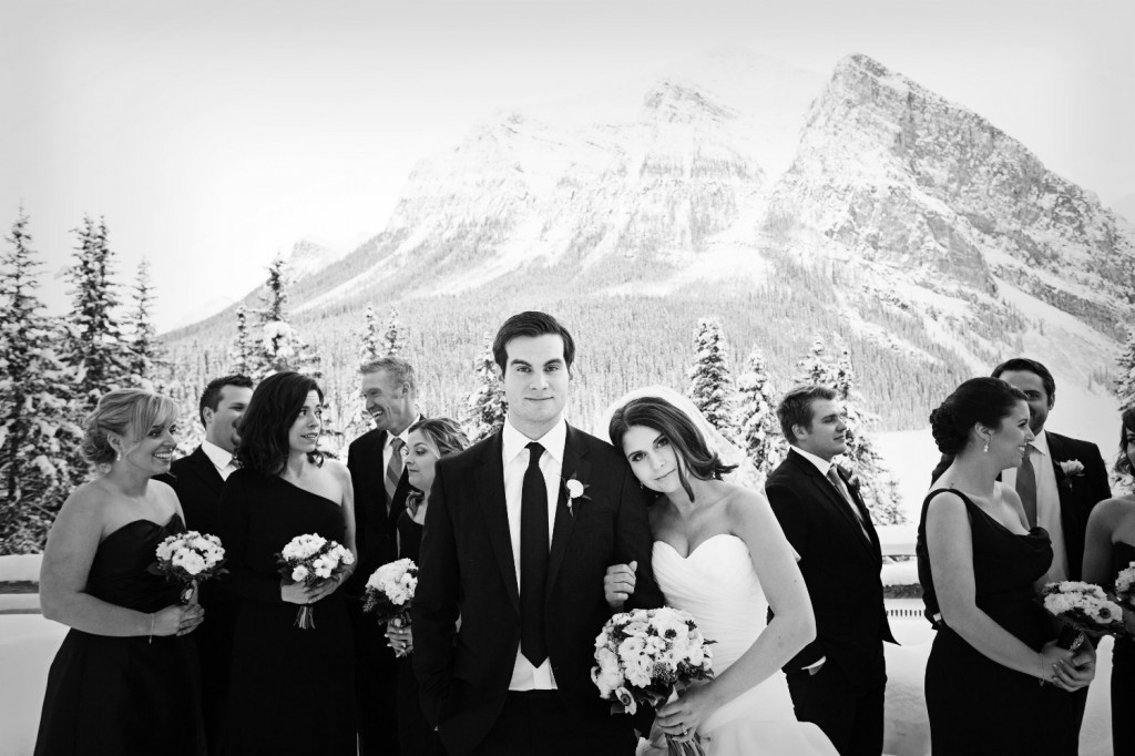 Lake Louise Bridal Party Photos