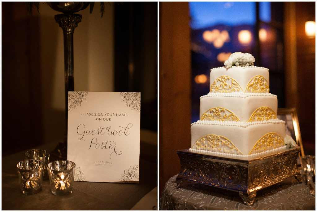 Guestbook Poster, Winter Wedding Cake