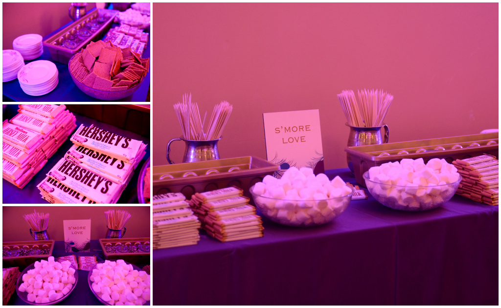 Smore Table, Wedding treat table