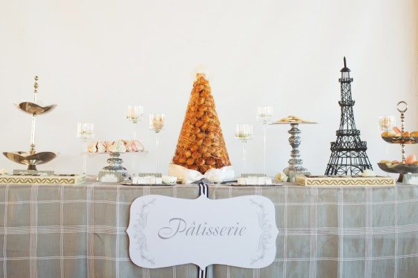 French dessert table patisserie