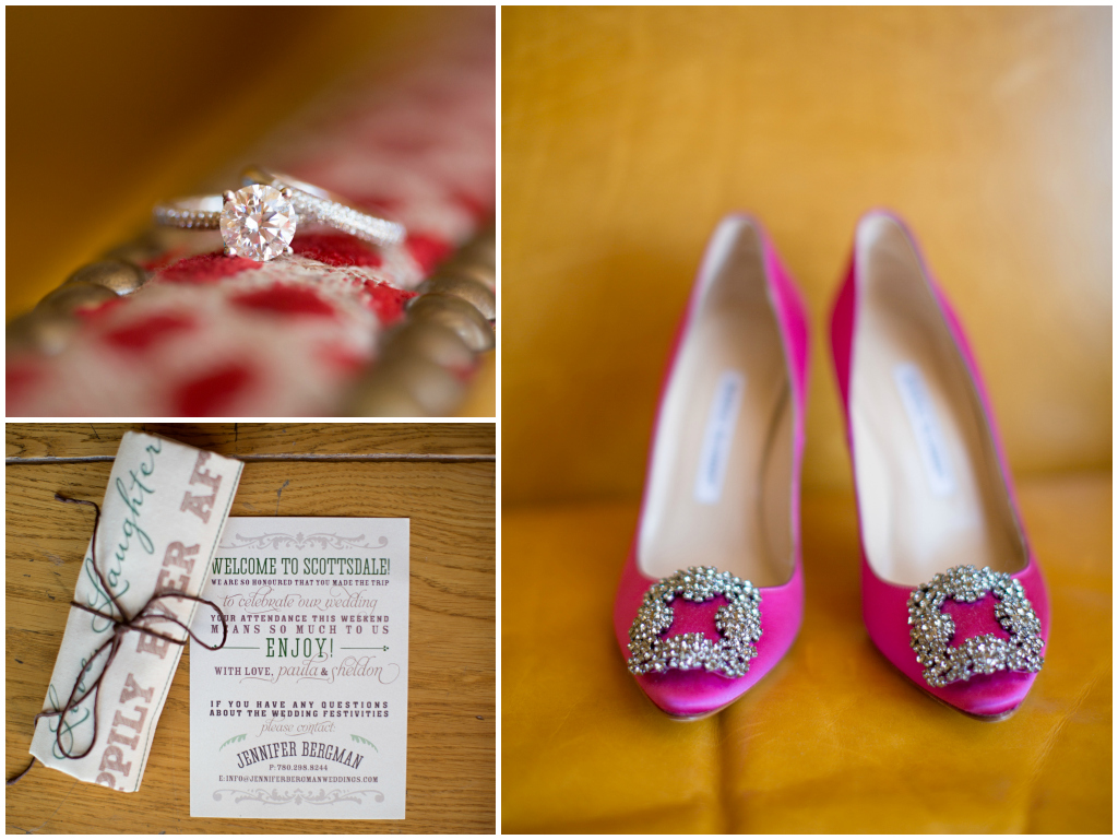 pink Manolo Blahnik Bridal Shoes