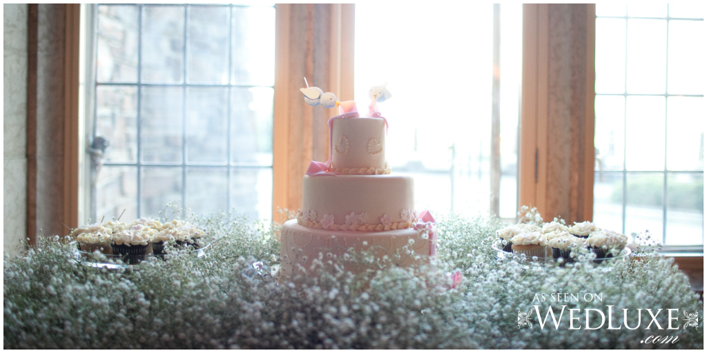 Baby's breath cake table