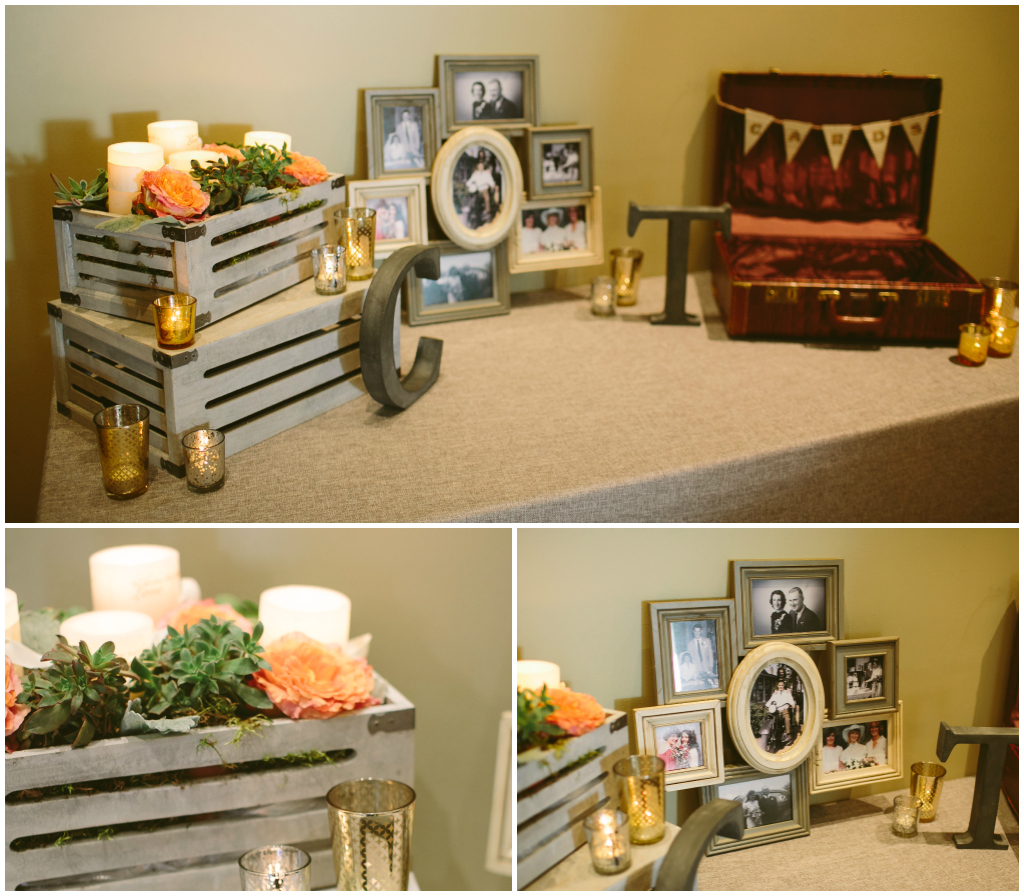 Canmore Winter Wedding Planner, Rustic Card Table