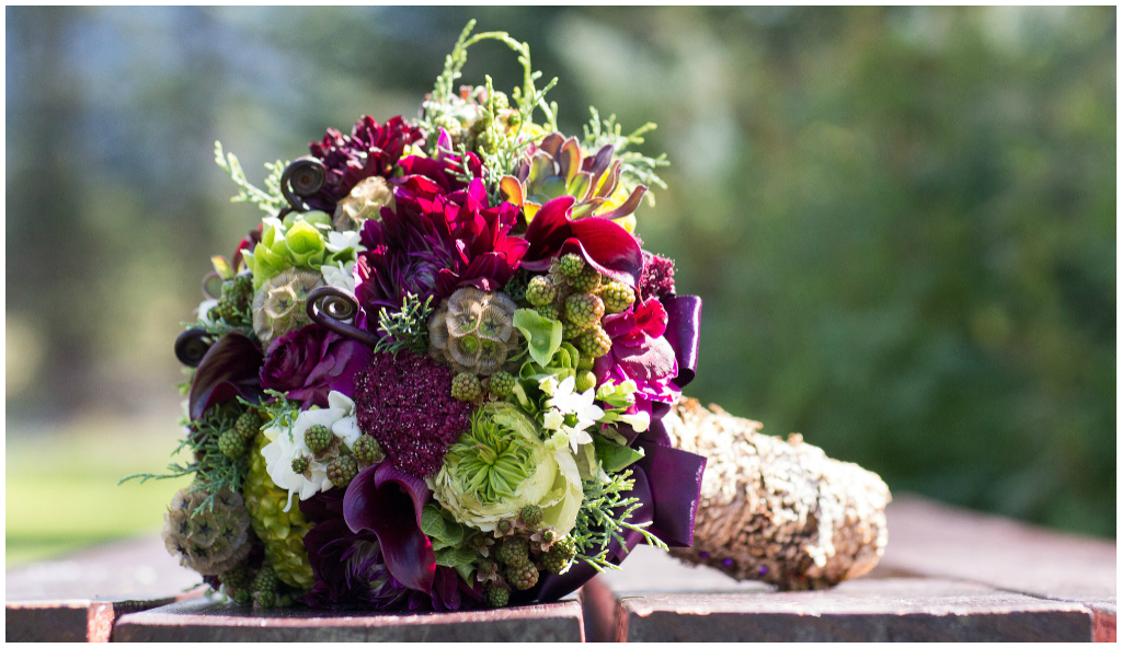 Purple and Green Organic Bouquet