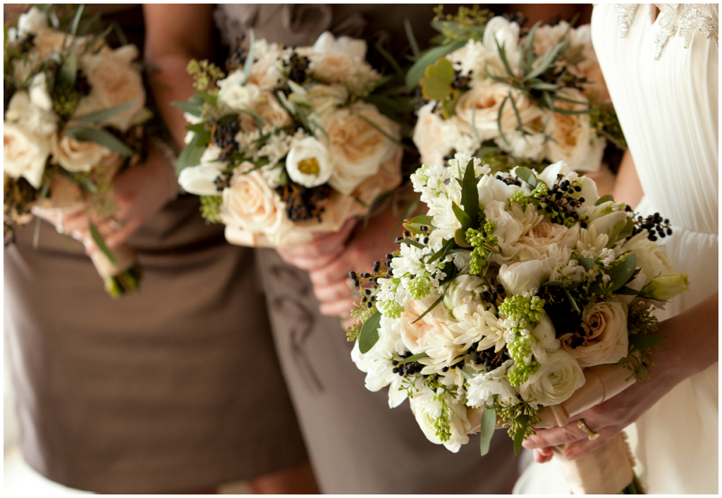 Fresh Foliage Bridal Bouquets