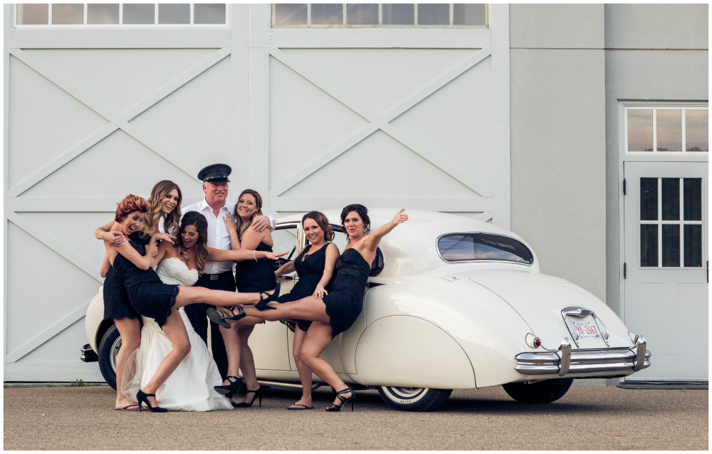 Fort Edmonton Hangar Wedding, White Jaguar Wedding