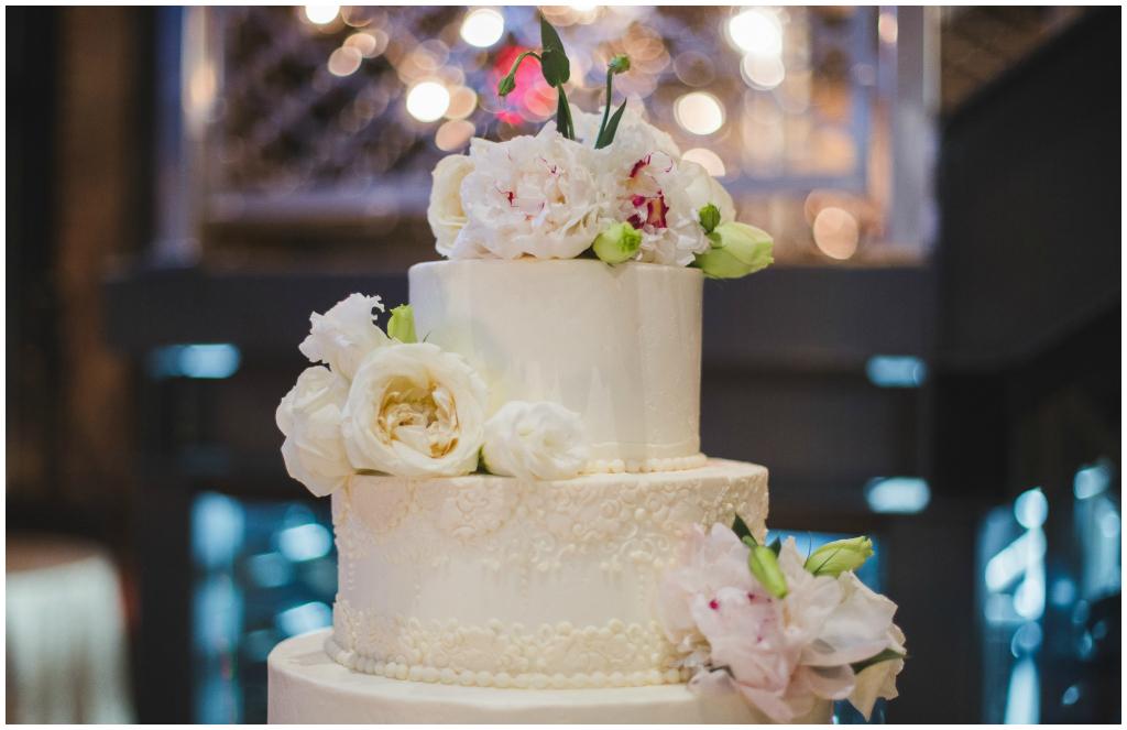 Edmonton Classic White Wedding Cake