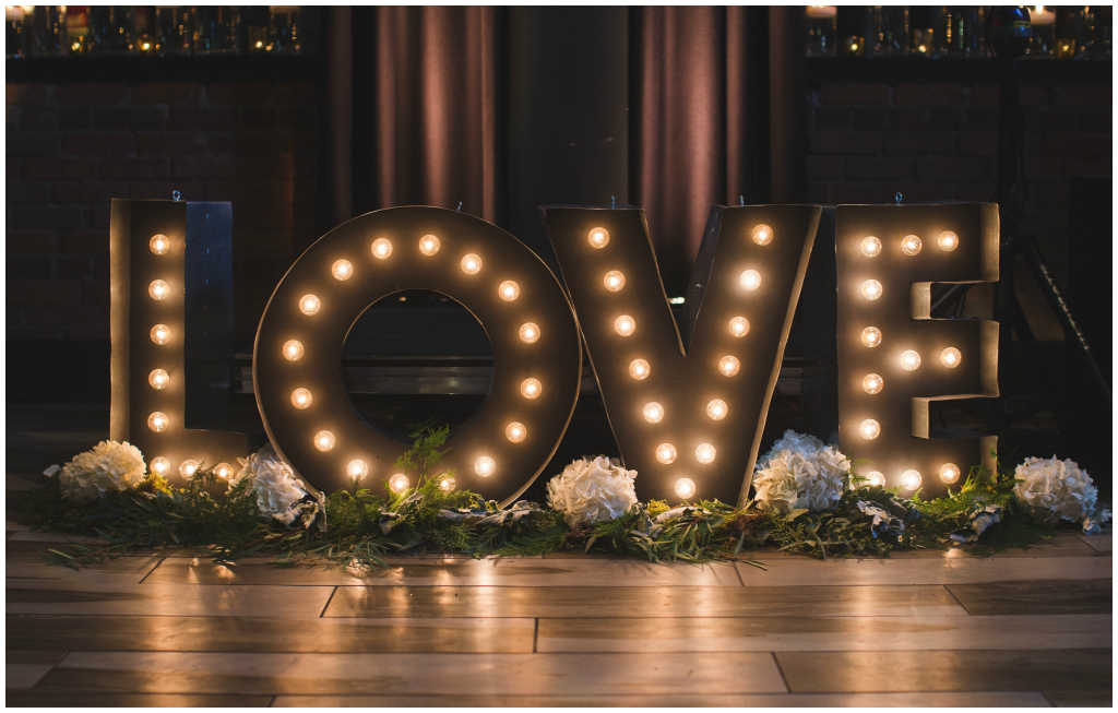 Look Events, Love Marquee Sign Edmonton