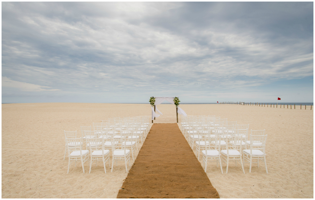 Los Cabos Beach Wedding, White Chiavari Chairs