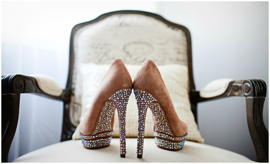 Sparkle Heel Bridal Shoe