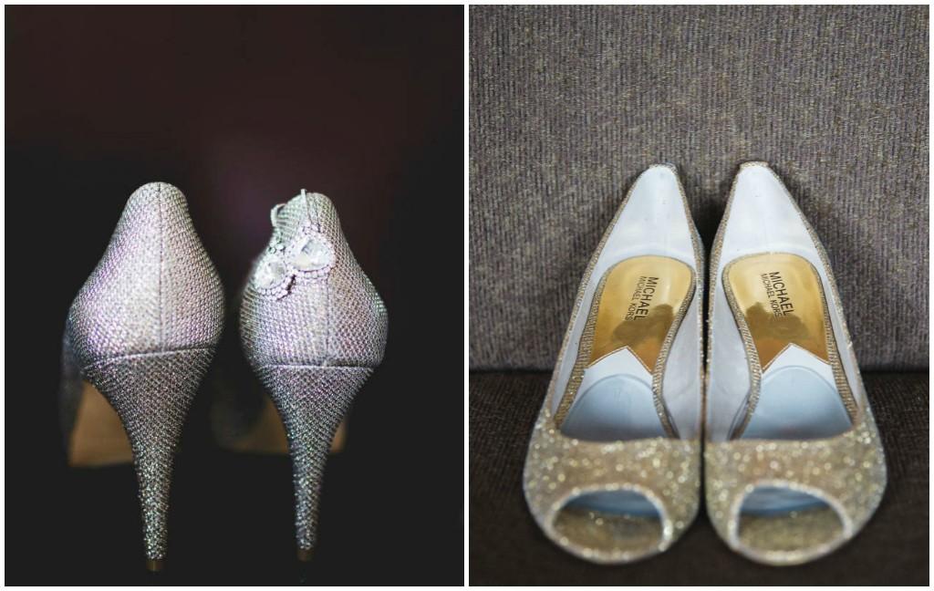 Silver Sparkle Bridal Heel