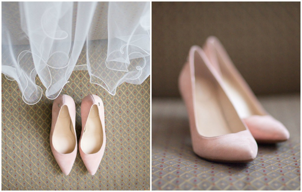 Kelly Redinger Photography, Classic Blush Bridal Shoes