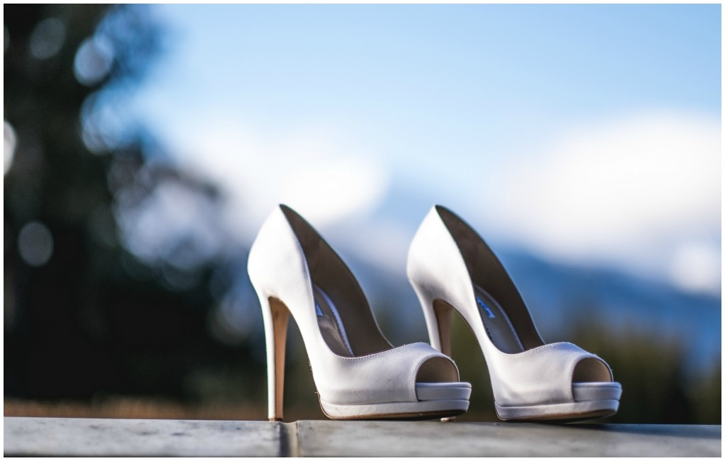 Classic Taupe Bridal Peep Toe Shoes