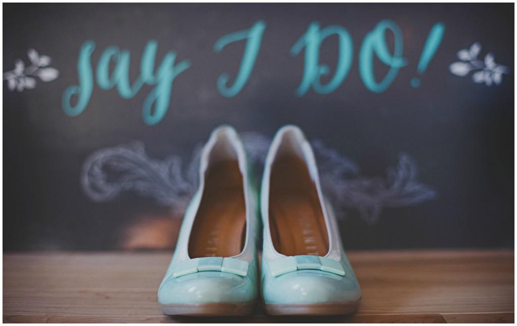 Blue Bridal Heels