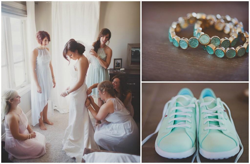 Teal Bridal Details