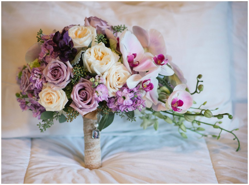 Soft purples and Ivory Bridal Bouquet