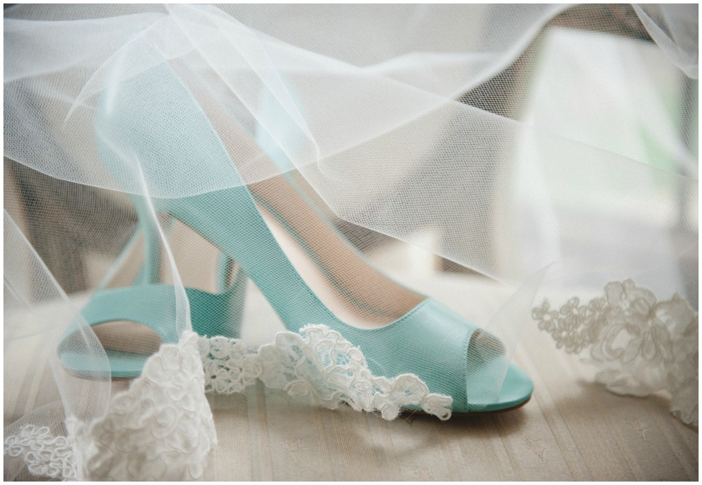 Blue Peep toe Bridal Heels