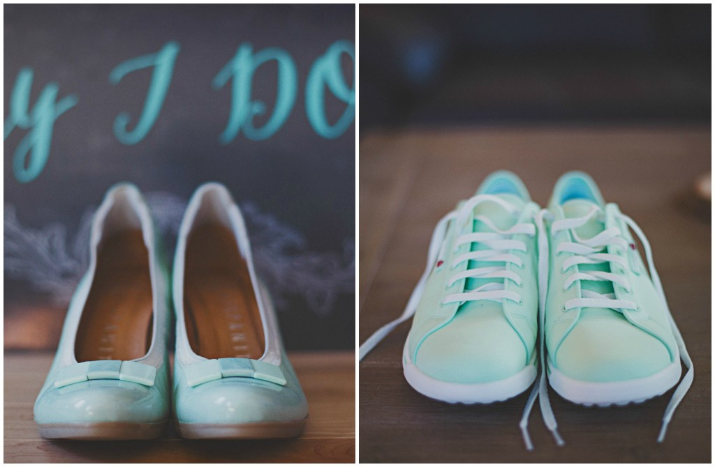 Shades of Blue Bridal Shoes