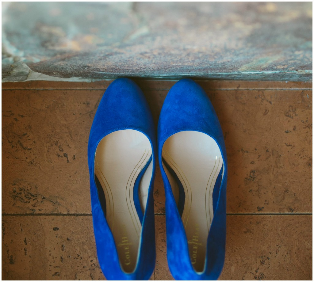 Blue Cole Haan Bridal Heels
