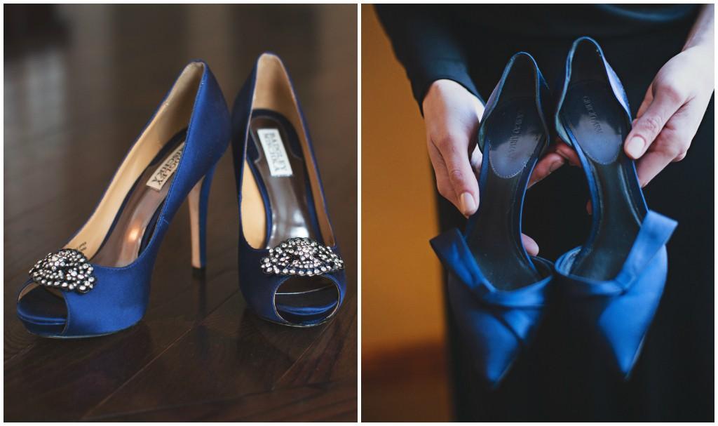 Blue Giorgio Armani Bridal Heels
