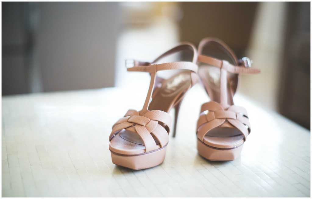 Strappy Yves Saint Laurent Bridal Shoes