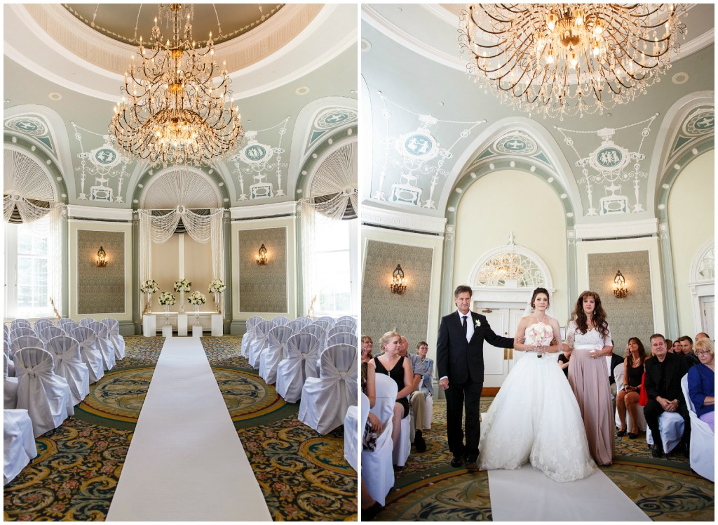 The Fairmont Hotel MacDonald Wedgwood Wedding Ceremony