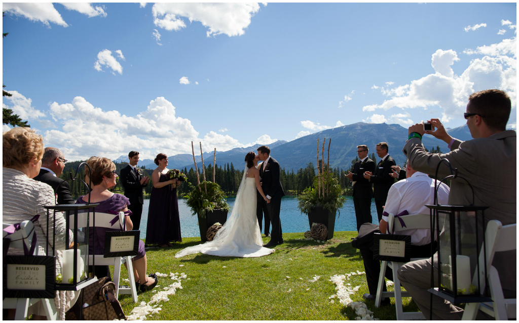 Rocky Mountain Ceremony, Jasper Park Lodge Weddings